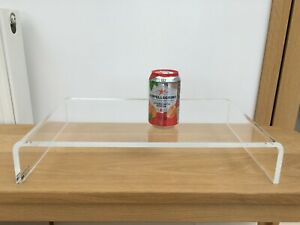 Large & Strong Clear Acrylic Raised Plinth - 50cm wide