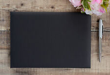 Plain, Blank, Black Guest Book. DIY Wedding Guest Book.