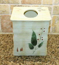Croscill Floral Gazebo Resin Tissue Cover Box Holder Yellow with flowers