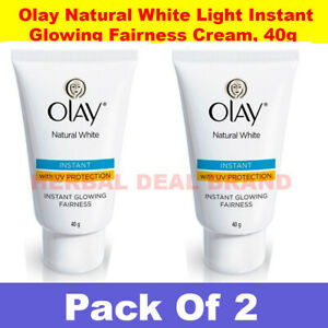Pack 2 x New Olay Natural White Light Instant Glowing Fairness 40 gm Uk Usa