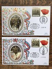 GB 2008 World War One Benham Covers X 2