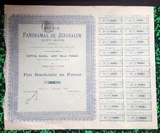 Paris XVIII ème - Expo Universelle de 1900 Rare Action Panoramas de Jerusalem