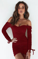 Women Long Sleeve V- Neck Bandage Bodycon Evening Cocktail Party Club Mini Dress