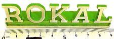 ROKAL Deko Schriftzug Metall Werbeschild ca 9cm 1960er 1970er Jahre å *