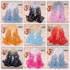 Fashion Stylish Women Long Soft Silk Chiffon Scarf Wrap Shawl Scarves hot #