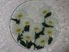 "Peggy Karr Fused Art Glass Plate 11-1/4"" Round, Never Used, Displayed Only"