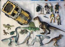Vintage JURASSIC PARK world Dinosaurs Action Figures Lot 1994 Kenner Jeep Raptor