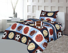 Twin 6Pcs or Full 8Pcs Comforter/ Coverlet / Bed in Bag Set with Toy Kids Junior