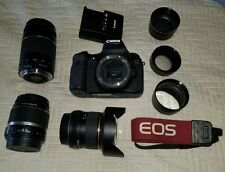 Canon 60D 18.0MP Camera + 18-135mm & 75 - 300mm, Rokinon 14mm,charger, 3 lenses