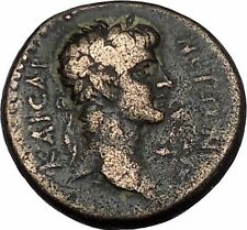 NERO 54AD TEOS Greek City in IONIA Dionysus Griffin Ancient Roman Coin i44114