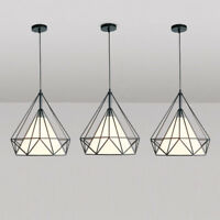 Kitchen Pendant Light Bedroom Lamp Black Chandelier Lighting Bar Ceiling Lights