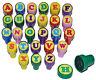 26 Pz. Set Francobolli Insegnante con Timbri - Abc Lettere Alfabeto - Selbstfä