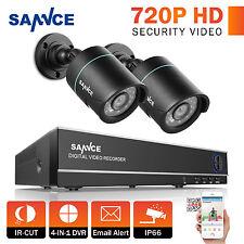 SANNCE 4CH 1080N HD HDMI DVR 720P Night Vision CCTV Surveillance Camera System