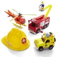 Fireman Sam Vehicles Playset Figures Helmet Helicopter Fire Engine Jupiter Toy
