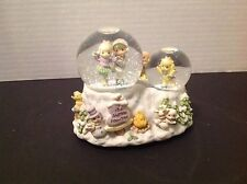 """Vintage 1999 Precious Moments """"Skater's Waltz"""" Collectible Ice skating Snow Glob"""