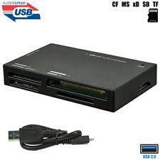 USB 3.0 External Multi Memory Card Reader SD TF CF MS xD MicroSD SDXC SDHC + M2