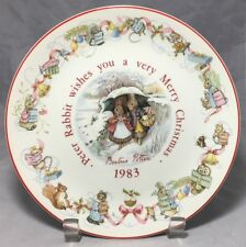 Peter Rabbit wishes you a merry Christmas 1983 Wedgwood plate England