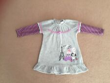 7 COLORES GIRLS GREY FLEECE DRESS AGE 18 MONTHS