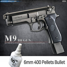 Academy M9 BB  Pistol Airsoft 6mm Shot Gun + BB 400ea Military Kit # 17211