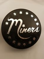 MINERS STARS VINTAGE OFFICIAL CZECHOSLOVAKIA HOCKEY PUCK unknown age+history