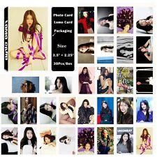 Fashion Cute 30pcs /Box Kpop IU Lee Ji Eun Photo card Lomo card