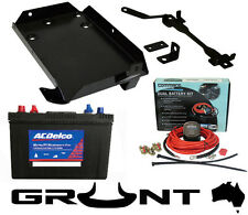 GRUNT 4X4 DUAL TWIN BATTERY TRAY KIT NISSAN GU PATROL TD42 4.2L TURBO DIESEL