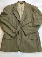 Mens Orvis Wool Houndstooth Blazer 44 L 3 Button USA
