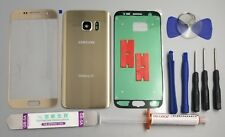 Samsung Galaxy S7 G930 -OEM Gold- Front Back Glass Lens Screen Replacement Kit