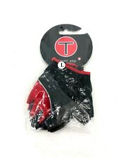 Tracy Zhu New Riding Gloves Size Large Red Gray Black H4