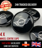 4x MINI WINGS ALLOY WHEEL CENTRE CAPS BADGES 54MM FITS MOST COOPER S CLUBMAN