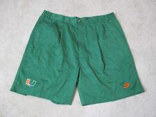 NIKE Miami Hurricanes Shorts Mens Size 42 Green Orange Khaki Football Mens