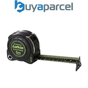 Crescent Lufkin 5m Shockforce Night Eye Dual Sided Metric Tape Measure LUFNEDS5M