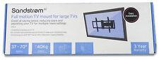 """Sandstrom sfml 16 SSR full motion montaggio a parete per 37"""" -70"""" TV VESA 600x400mm"""