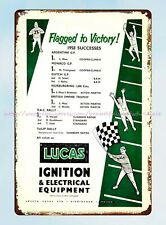 1958 Joseph Lucas Ignition Electrical Equipment Car Parts Auto Racing tin sign