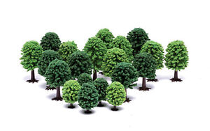 """Hornby SkaleScenics R7198 """"DECIDUOUS TREES"""" Pack of 20 different sizes OO gauge"""