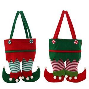 Non-woven Elf Pants Legs Santa Buckle Belt Boot Shoes Felt Candy Cookie Gift Bag