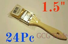 """24 of 1.5 Inch Chip Brush Disposable for Adhesives Paint Touchups Glue 1.1/2"""""""
