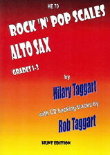 Rock 'N' Pop Scales for ALTO SAX with FREE CD- Grade: 1 - 3, ALTO SAXOPHONE + CD