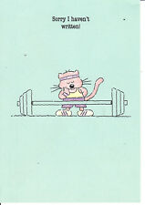"""Greeting Card - """"SORRY I HAVEN'T WRITTEN"""" - art by Raymond Medici!"""
