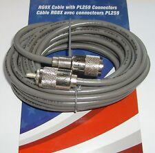 Astatic 18 foot RG8X mini8 Coax CB Radio Antenna Coaxial Cable Soldered PLs 18ft