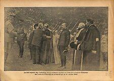 Mgr Lobbedey Evêque d'Arras Légion d'Honneur Président  WWI 1917 ILLUSTRATION