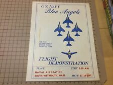 """original vintage NAVY BLUE ANGLES POSTER: 17 x 22"""" early Flight Demo"""