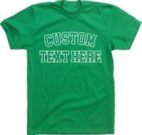 Personalised Custom Printed T-Shirt - College Style, TShirt, Various Cols S-XXL,