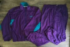 Reebok Track Suit 90s Vtg Jacket Pants Stretch Nylon Sporty Warm Up Running Nwot