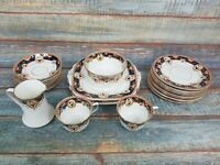 Collection Of Royal Vale China Longton Plates Bowls 25 Piece