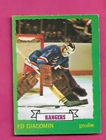 1973-74 OPC # 160 RANGERS ED GIACOMIN VG CARD (INV# D7425)