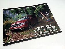 2014 Dodge Journey Crossroad Information Sheet Brochure