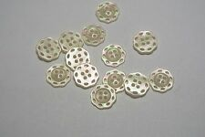 10pc 13mm Cream Mother of Pearl Effect Doily Style Knitwear Cardigan Button 3075
