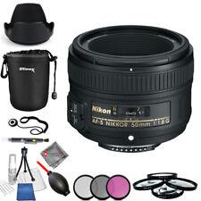 Nikon AF-S NIKKOR 50mm f/1.8G Lens #2199 - Pro Bundle Brand New