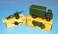 DINKY TOYS 623 ARMY COVERED WAGON / 686 25-POUNDER FIELD GUN 100% ORIGINAL MIB!!
